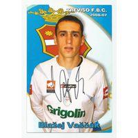 Blazej Vascak(Treviso, Италия). Живой автограф на большой карточке.