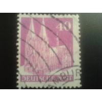 Германия 1948 Бизония L14 40 пф. Кельнский собор