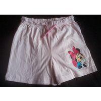 Р.110-116 фирменные шортики Disney новые летние с Минни Маус