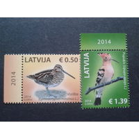 Латвия 2014 птицы полная серия