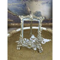 Викторианская фоторамка антикварная бронза подставка под зеркало винтажный стиль