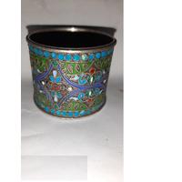 Кольцо для салфеток. Серебро 84 пр. Перегородчатая эмаль.