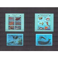 2000 Палау Mi PW 1717-30 - Рыбы. - 2 листа + 2 блока MNH ** / морская фауна, рыбки