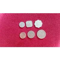 Шри Ланка набор 6 монет