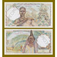 [КОПИЯ] Французская Западная Африка 1000 франков 1948-54 г.г. (образец)