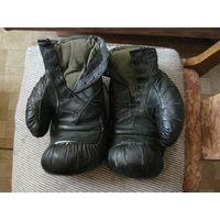 Перчатки боксерские кожаные ссср натуральный наполнитель и подкладка