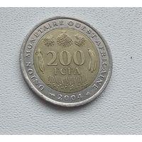 Западная Африка 200 франков, 2004 8-4-8