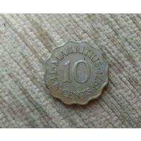 Маврикий 10 центов 1971 Елизавета 2 Колония Британии
