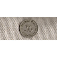Германия 10 пфеннигов 1906А(Ab)