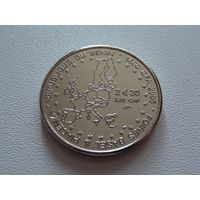 "Бенин. 1500 франков 2005 год KM#44  ""Карта Евро"""