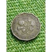 Нигерия  3 пенса 1959
