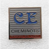 CE Cheminots. Знак железнодорожника. Лион. Франция #0440-OP10
