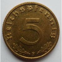 Нацистская Германия 5 рейхспфеннигов 1938 F