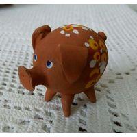 Свинка из  глины hand made