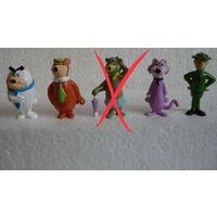 Фигурки киндер Мишки-йоги Италия 90-е гг Редкие ( цена за набор)