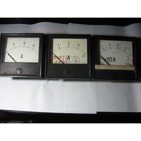 Набор амперметров (0-9/0-20/0-50А) -  цена снижена