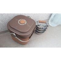 Термос контейнер с набором посуды. СССР.