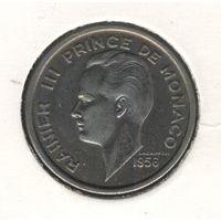 Монако 100 франков 1956 г. Ренье III.