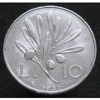 Италия 10 лир 1950