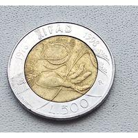 Италия 500 лир, 1998 20 лет IFAD 1-3-24