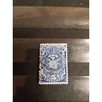 1880 Чили герб налоговая использовалась и как почтовая служебная марка ,(3-3)