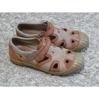 Туфли бежевые кожаные Бартек