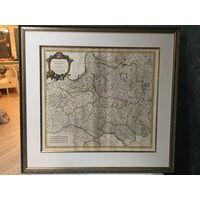 Мапа Рэч Паспалітая \ Вялікае Княства Літоўскае, 1700-е