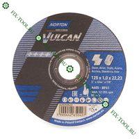 Отрезной круг по металлу д.125x1.0x22.23 мм Norton vulcan