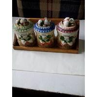 Керамические емкости для чая/кофе/сахар  пития