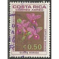 Коста-Рика. Авиапочта. Цветы. Орхидеи. 1967г. Mi#716.