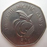 Папуа-Новая Гвинея 50 тойя 1991 г. Тихоокеанские игры