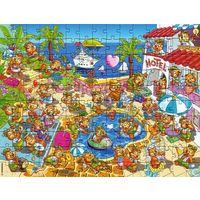 Киндер Макси пазл мазаика Мишки Медведи на отдыхе + вкладыш 150 деталек Maxi Ei Puzzle top die ten teddies
