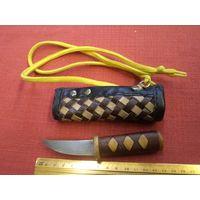 Ножик ручной работы в кожаном чехле(2).