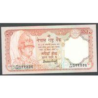 Непал 20 рупий 1990 г. P38a. UNC