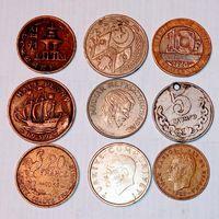 Монеты разных стран мира с рубля . 3 лот.