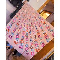 Ткань купон-платок 0.95х0.95(шёлк 100%, ЭКСКЛЮЗИВНЫЙ ВИНТАЖ) идеально для американской проймы