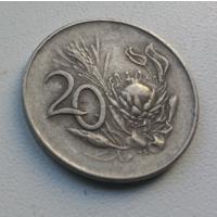 20 центов 1965 г. Южная Африка