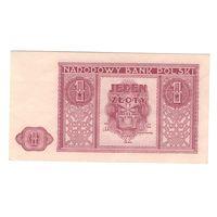 Польша 1 злотый 1946 года. Редкая! Состояние aUNC+!
