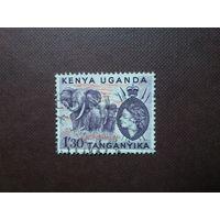 Кения, Уганда, Танганьика 1954 г.Елизавета -II.Номинал больше 1 шиллинга.