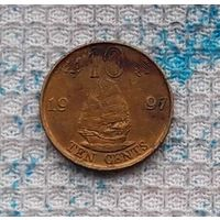 Гонконг 10 центов 1997 года. Корабль свободы. Инвестируй в историю! RR