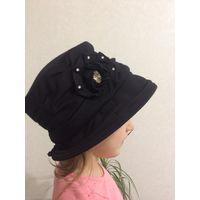 Черная женская шляпка весенняя