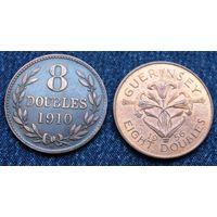 W: Генрси 8 дублей 1910 и 1956, цена за две монеты (1130)