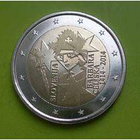 2 евро 2014 Словения (памятная) 600-летие со дня коронации Барбары Цилли