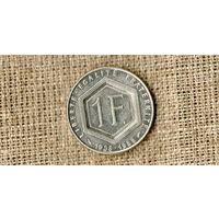 Франция 1 франк 1988 /Де Голль/(ON)