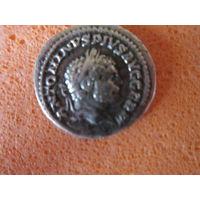 Древний античный Рим. Император Каракалла (211-217 годы правления). Денарий, серебро.