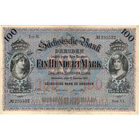 Саксония, 100 марок, 1911 г.