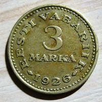 Эстония. 3 марки 1926 г.