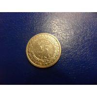 Суринам 25 центов 2009 г.