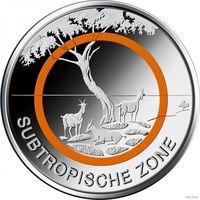 5 евро 2018 Германия F  Субтропическая зона UNC из ролла