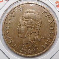 Новая Каледония 100 франков 2000 г.
